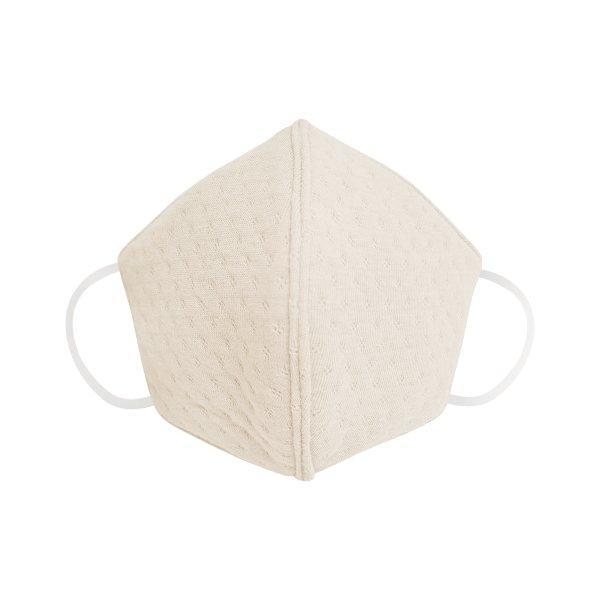 BSC KIDDO หน้ากากผ้ากันฝุ่นสำหรับเด็ก SIZE S สีครีม สำหรับเด็ก อายุ 2-6 ปี 1 ชิ้น/แพค ผลิตจากผ้า COTTON แจ็คการ์ด