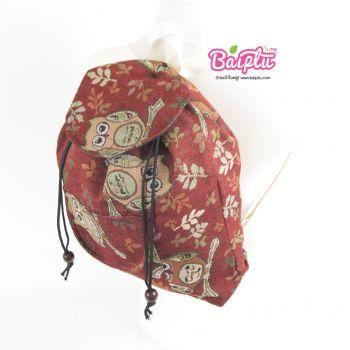 กระเป๋าเป้ผ้าทอ (เล็ก-สายขาว) 62
