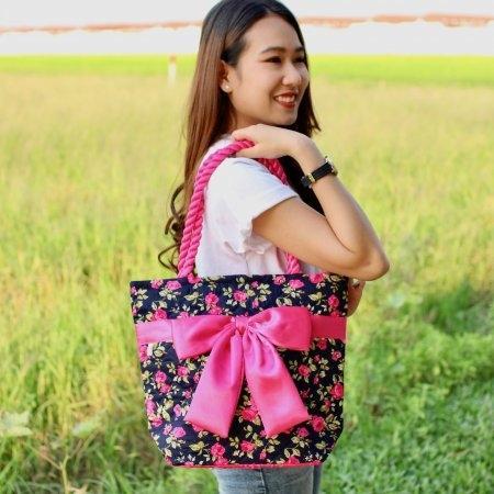 กระเป๋าโบว์ทรงแอล สายเกลียว Size (L) 203