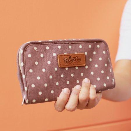 กระเป๋าเงินจูดี้ (น้ำตาล-จุดขาว) No.4