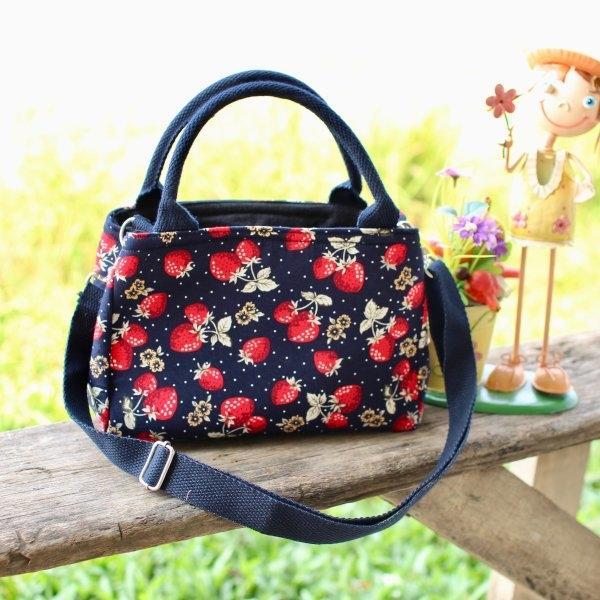 กระเป๋าผ้า Cotton รุ่น 2 ช่อง ไซค์ S (No.20)
