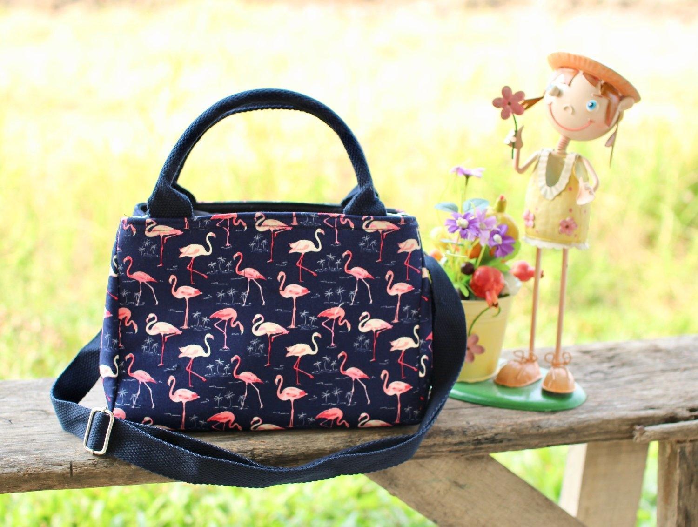 กระเป๋าผ้า Cotton รุ่น 2 ช่อง ไซค์ S (No.24)