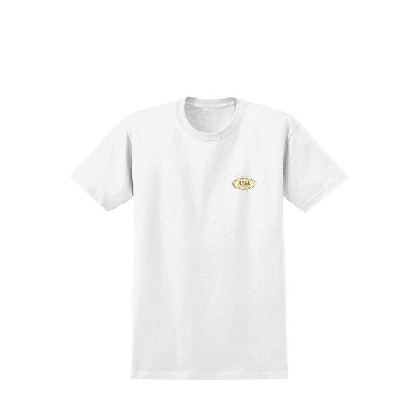 REAL SKATEBOARD :  ISHOD CAT SCRATCH TEE - Wht/Gold