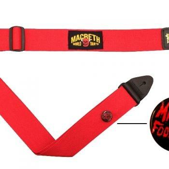Macbeth Guitar Strap - Worldtour Red