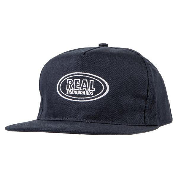REAL SKATEBOARD : OVAL SNAPBACK - NAVY/WHITE
