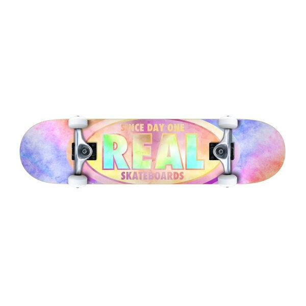 REAL SKATEBOARD : OVAL TIE DYES 7.75