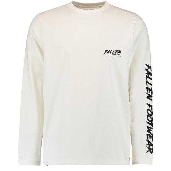 FALLEN - BOLT LONG SLEEVE TEE - WHITE