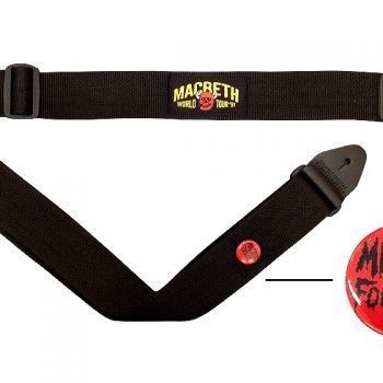Macbeth Guitar Strap - Worldtour Black