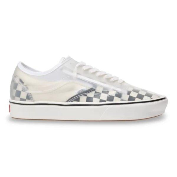 VANS CHECKERBOARD COMFYCUSH SLIP-SKOOL - BLACK/WHITE