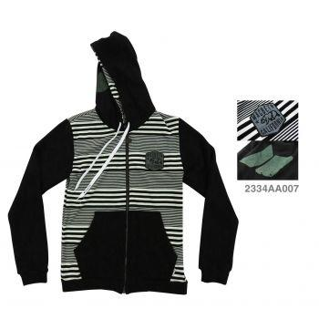 MACBETH : HOOD ZIP - STRIPES