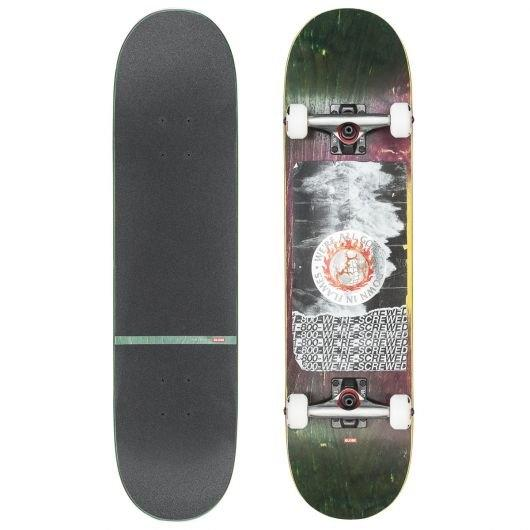 GLOBE SKATEBOARD 8.375 - G2 In Flames Complete 8.375 Holo/Flood