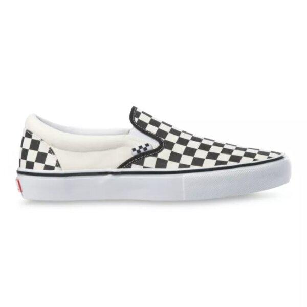 VANS CHECKERBOARD SKATE SLIP-ON - BLACK/OFF WHITE