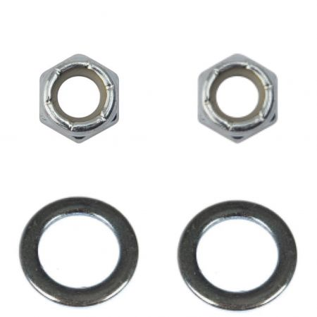 Deluxe Chrome Axle - Nut+Washer